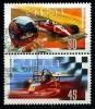 Canada (Scott No.1647-48 - Gilles Villeneuve) (o) Se-tenant - 1952-.... Règne D'Elizabeth II