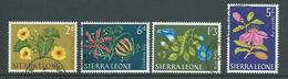Sierra Leone 1963 Flower Definitives 4 Values To 5 Shilling FU - Sierra Leone (1961-...)