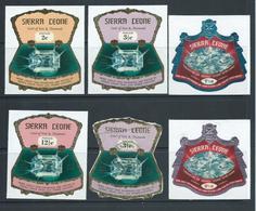 Sierra Leone 1970  Diamond Industry  3 Postage Values & 2 Airmail Values MNH - Sierra Leone (1961-...)