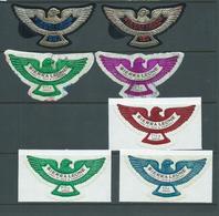 Sierra Leone 1967 - 1970 Eagle Embossed Self Adhesives 5 Values MNH , 2 Values FU On Pieces - Sierra Leone (1961-...)