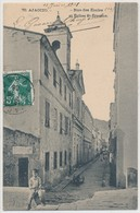 Corse Cpa Ajaccio Rue Des écoles Et église St-Erasme   édition Guittard - Ajaccio