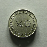 Netherland Antilles 1/4 Gulden 1970 Silver - Antilles Neérlandaises