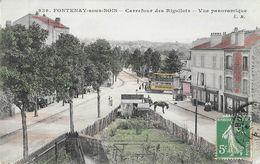 Fontenay-sous-Bois - Carrefour Des Rigollots, Vue Panoramique - Edition Malcuit - Carte E.M. Colorisée N° 939 - Fontenay Sous Bois