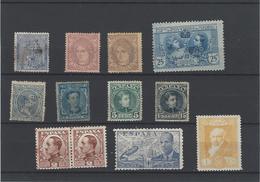 Spagna ,1 Usato + 11 Nuovi Con Linguella ,buona Qualita - 1889-1931 Regno: Alfonso XIII