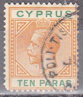 CYPRUS     SCOTT NO. 72      USED      YEAR  1921      WMK -4 - Cyprus (...-1960)