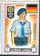 19/5 (vert) Ajman, Timbre Neuf XX Theme Scoutisme Scouts Drapeau Flag Scouting Allemagne Deutchland - Scouting