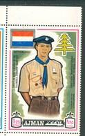 19/5 (vert) Ajman, Timbre Neuf XX Theme Scoutisme Scouts Drapeau Flag Scouting  Nederland Netherland Pays-Bas - Scouting