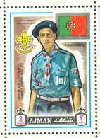 19/5 (vert) Ajman, Timbre Neuf XX Theme Scoutisme Scouts Drapeau Flag Scouting Portugal - Scouting