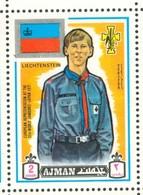 19/5 (vert) Ajman, Timbre Neuf XX Theme Scoutisme Scouts Drapeau Flag Scouting Liechtenstein - Scouting