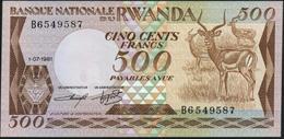 RWANDA - 500 Francs 01.07.1981 UNC P.16 - Rwanda