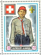 19/5 (vert) Ajman, Timbre Neuf XX Theme Scoutisme Scouts Drapeau Flag Scouting Suisse Switzerland Zwitzerland - Scouting