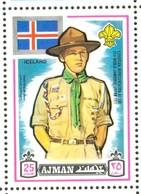 19/5 (vert) Ajman, Timbre Neuf XX Theme Scoutisme Scouts Drapeau Flag Scouting Island Islande - Scouting