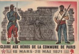 L'HUMANITE - PARTI COMMUNISTE FRANCAIS 27/5/1945 GLOIRE AUX HEROS DE LA COMMUNE DE PARIS - POLITIQUE MUR DES FEDERES - Evenementen