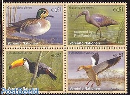 United Nations, Vienna 2003 Birds 4v [+], (Mint NH), Nature - Ducks - Birds - Unclassified