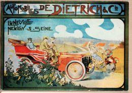 X54040 LUNEVILLE NEUILLY Sur SEINE Automobiles DIETRICH & Cie Affiche Cppub REPRO NUGERON VA-11 - Luneville