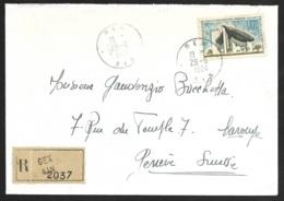 N°1394A Sur Enveloppe-Recommandé De Gex Ain-Pour La Suisse - Marcophilie (Lettres)