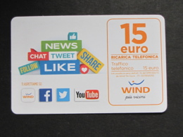 ITALIA WIND - NEWS CHAT .... 15 EURO SCAD. 30/06/2022 - USATA - Schede GSM, Prepagate & Ricariche