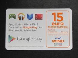 ITALIA WIND - GOOGLE PLAY 15 EURO SCAD. 30/06/2019 - USATA - Schede GSM, Prepagate & Ricariche