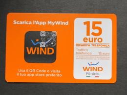 ITALIA WIND - SCARICA APP MYWIND 15 EURO SCAD. 30/06/2019 - USATA - Schede GSM, Prepagate & Ricariche