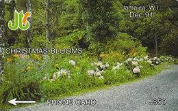 Jamaica, GPT 1991, Coded 5JAMB020254, Christmas Blooms - Jamaica