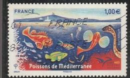 FRANCE 2016 POISSONS DE MEDITERANNEE OBLITERE YT 5077- - Frankreich