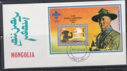 SCOUTS -  MONGOLIA - 1992 - KOREA JAMBOREE  / BADEN POWELL S/SHEET ON   ILLUSTRATED FDC - Storia Postale