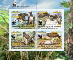 GUINEA REP. 2019 MNH WWF Birds Of Prey Greifvögel Raubvögel Oiseaux De Proie GOLD FOIL - IMPERFORATED - DH1918 - W.W.F.