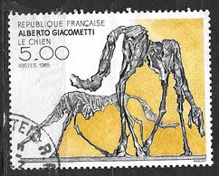 FRANCE 2383 Le Chien Sculpture D'Alberto Giacometti - Oblitérés
