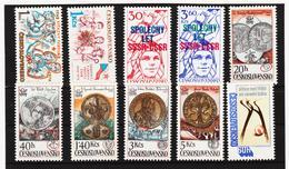 Post255 TSCHECHOSLOWAKEI CSSR 1978 MICHL 2423/32 ** Postfrisch SIEHE ABBILDUNG - Tschechoslowakei/CSSR