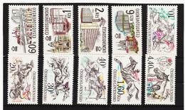 Post257 TSCHECHOSLOWAKEI CSSR 1978 MICHL 2458/61 + 2469/74 ** Postfrisch SIEHE ABBILDUNG - Tschechoslowakei/CSSR