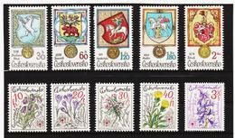 Post258 TSCHECHOSLOWAKEI CSSR 1979 MICHL 2494/98 + 2507/11 ** Postfrisch SIEHE ABBILDUNG - Tschechoslowakei/CSSR