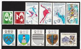 Post260 TSCHECHOSLOWAKEI CSSR 1980 MICHL 2542/46 + 2551/56 ** Postfrisch SIEHE ABBILDUNG - Tschechoslowakei/CSSR