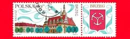Nuovo Obl. - POLONIA - 1970 - Turismo - Vedute Di Città - Brzeg - Stemma  - 60 - Neufs