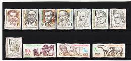 Post261 TSCHECHOSLOWAKEI CSSR 1981 MICHL 2603/10 + 2635/37 ** Postfrisch SIEHE ABBILDUNG - Tschechoslowakei/CSSR
