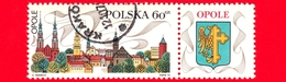 Nuovo Obl. - POLONIA - 1970 - Turismo - Vedute Di Città - Opole - Stemma  - 60 - Neufs