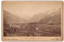 Photo Aug. Pittier, Annecy,  Vue De Samoens, Totale Avec Vallon - Luoghi
