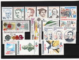 Post186 TSCHECHOSLOWAKEI CSSR 1983 MICHL 2698/09 + 2717/22 ** Postfrisch SIEHE ABBILDUNG - Tschechoslowakei/CSSR