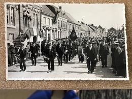 2 Postkaarten Jaren  +-1925 Koninklijke Harmonie DE VOLKSVREUGD PROVEN POPERINGE - Poperinge