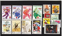 Post184 TSCHECHOSLOWAKEI CSSR 1972 MICHL 2050/64 ** Postfrisch SIEHE ABBILDUNG - Tschechoslowakei/CSSR