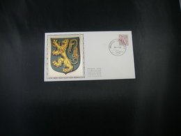 "BELG.1981 1998 FDC Zijde/soie : ""Chiffre Sur Lion Héraldique Et Banderole/cijfer Op Heraldieke Leeuw En Wimpel"" - 1981-90"