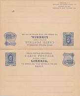 Post Card With Response Card, Unused Liberia - Liberia