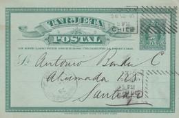 1895: Post Cards To Santiago/Neubrandenburg - Chile