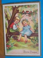 Auguri Buona Pasqua  Bambini  Illustrata Mazzini CARTOLINA  Viaggiata 1965 - Easter