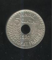 5 Centimes Tunisie 1920 Grand Module - Tunisie