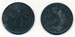 1917 // ALGERIE // CHAMBRE DE COMMERCE // 5 Centimes - Colonies