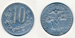 1916 // ALGERIE // CHAMBRE DE COMMERCE // 10 Centimes - Colonies