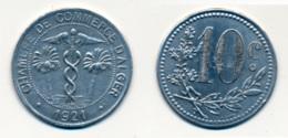 1921 // ALGERIE // CHAMBRE DE COMMERCE // 10 Centimes - Colonies