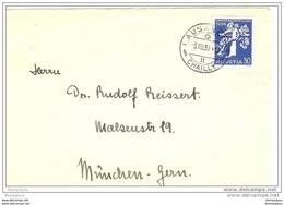 76 - 59 - Lettre Envoyée De Lausanne à Munich - 1939 - Affranchissement Timbre 30 Cts En Allemand Expo Zürich 1939 - Suisse