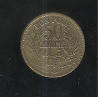 50 Centimes Tunisie 1921 - Tunisia