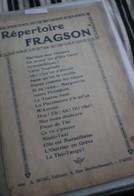 Repertoire Fragson - Scores & Partitions